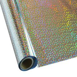 """25 Foot Roll of 12"""" StarCraft Electra Foil - Silver Stars"""