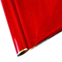 """25 Foot Roll of 12"""" StarCraft Electra Foil - Red Glitter"""