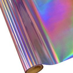 """25 Foot Roll of 12"""" StarCraft Electra Foil - Purple Holographic Rainbow"""