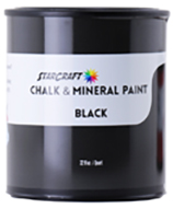 StarCraft Chalk Paint - Black - 32oz Quart