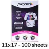 "StarCraft Sublimation Paper 11"" x 17"" - 100 Pack"