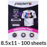 "StarCraft Sublimation Paper 8.5"" x 11"" - 100 Pack"