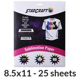 "StarCraft Sublimation Paper 8.5"" x 11"" - 25 Pack"