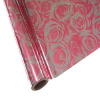 """25 Foot Roll of 12"""" StarCraft Electra Foil - Pink Roses"""