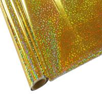 """25 Foot Roll of 12"""" StarCraft Electra Foil - Holographic Gold Sequins"""